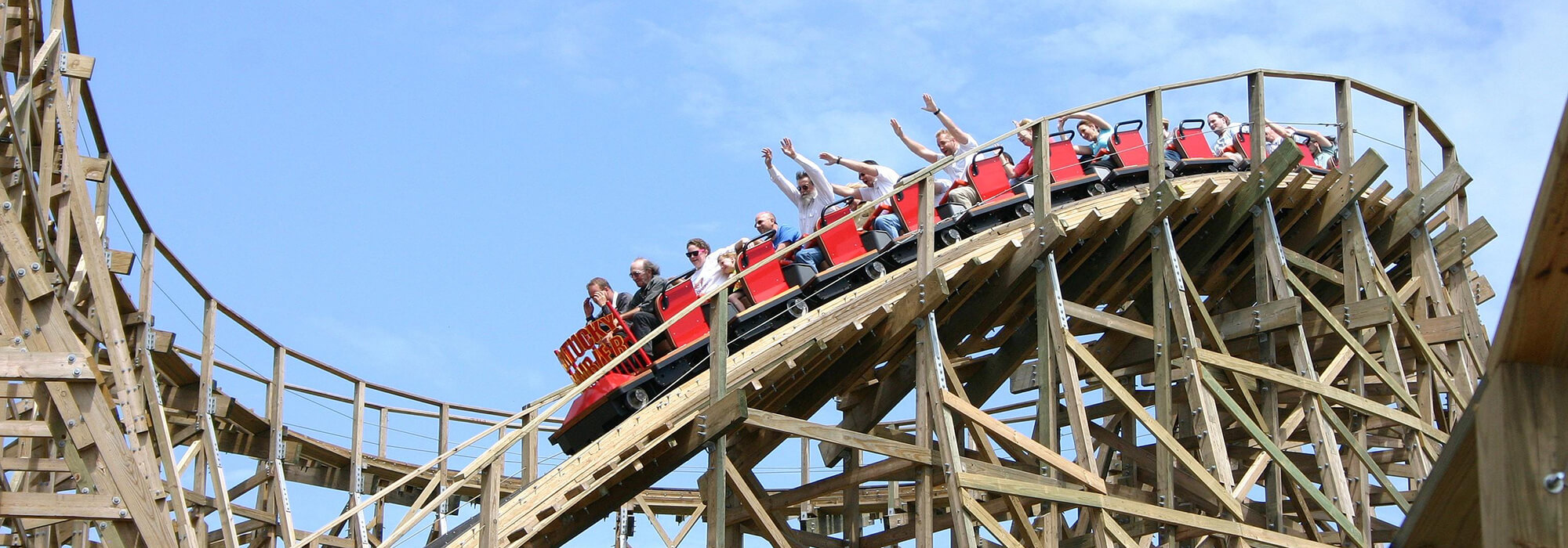 Kentucky Rumbler Roller Coaster | Beech Bend Amusement Park - Bowling Green, KY